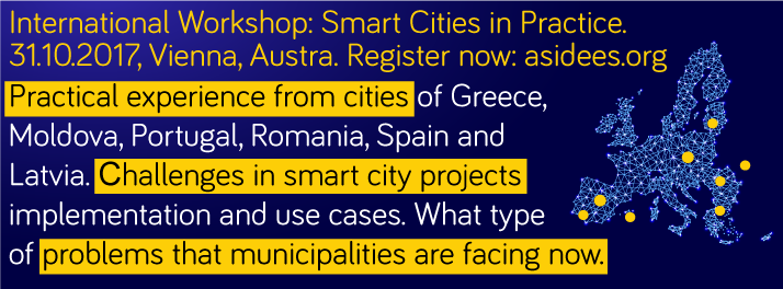 "Workshop ""Smart Cities in Practice"" in Vienna"